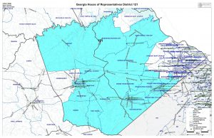 GA House District 121 map