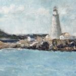 Boston Light by: June Klement,Oil, 9