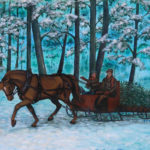 Bringing Home the Tree by: Stephanie M. Dunatov, Signed & Numbered Reproduction, 9