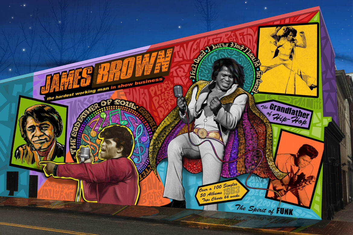 The Spirit of Funk, mural proposal sketch by Cole Phail
