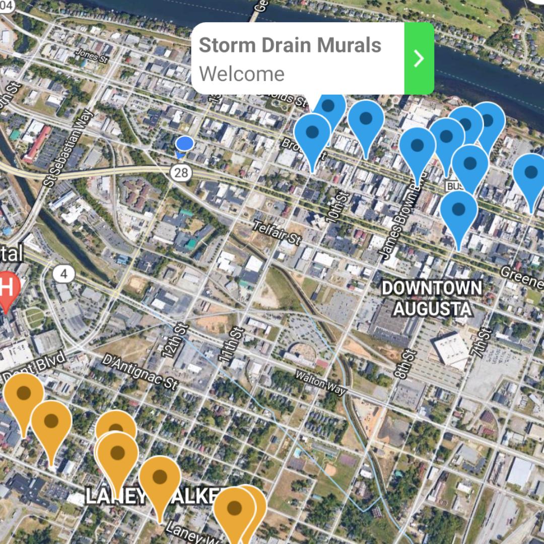 Screenshot of Otocast Public Art Tour