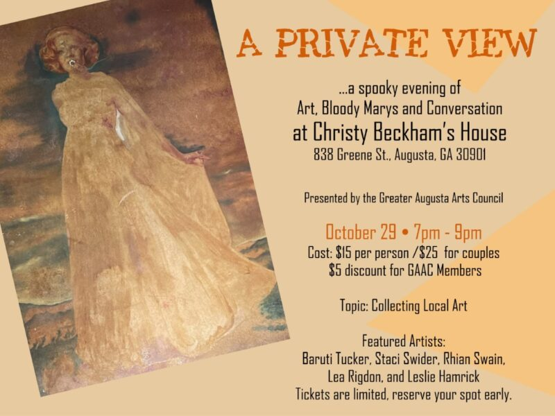Spooky Private View poster
