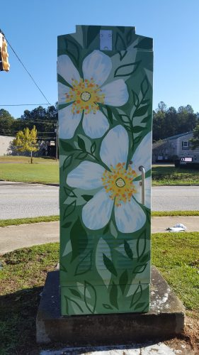 Cherokee Rose traffic box in Augusta GA